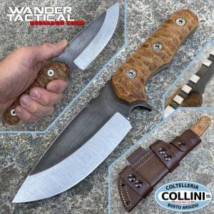 Wander Tactical - Lynx Bushman knife - Dual Tone & Brown Micarta - coltello custom