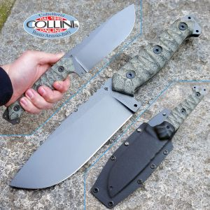 Wander Tactical - Megalodon 1.0 GunKote - OD Green Micarta - coltello custom
