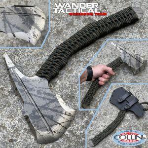 Wander Tactical - Lynx - Raw Finish and Blue Micarta - coltello custom
