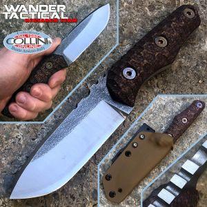 Wander Tactical - Uro - Satin SanMai CoS & Cherry Brown Micarta - coltello artigianale