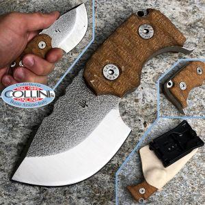 Wander Tactical - Tryceratops Black GunKote & Desert Micarta - coltello custom