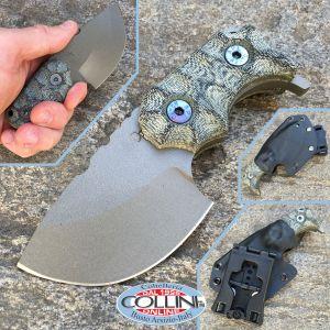 Wander Tactical - Tryceratops - Grey & Green Micarta, knife, couteau, cuchillo, messer