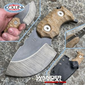Wander Tactical - Tryceratops Compound - Raw & Brown Micarta - coltello custom