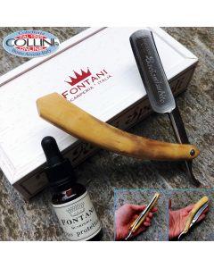 Fontani Scarperia - Baciamisubito 7/8 Boxwood - MLR78BO - freehand razor