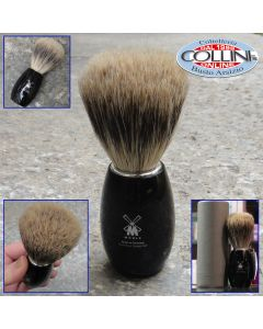 Muhle - Shaving brush from MÜHLE, pure badger, handle material high-grade resin black