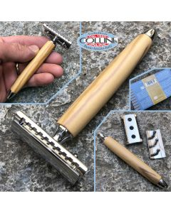 Fatip - Safety Razor - Gentile Head - Close Comb - Olive - 42131