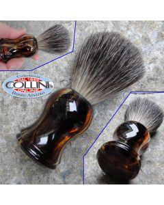 Muhle  - NOM Gustav Shaving Brush Pure Badger Havanna