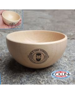 Dr. K Soap Company - Shaving bowl in beech wood - bowl for shaving foam