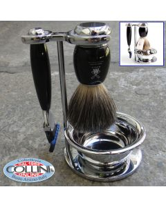 Mühle  - VIVO - Shaving set  with Gillette® Fusion™, handle material made of high-grade resin black