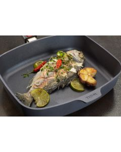 Woll - Rectangular frying pan with lid 30x26 cm suitable for induction - Diamond Lite