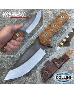 Wander Tactical - Lynx Bushmann knife - Raw & Black Micarta - coltello custom