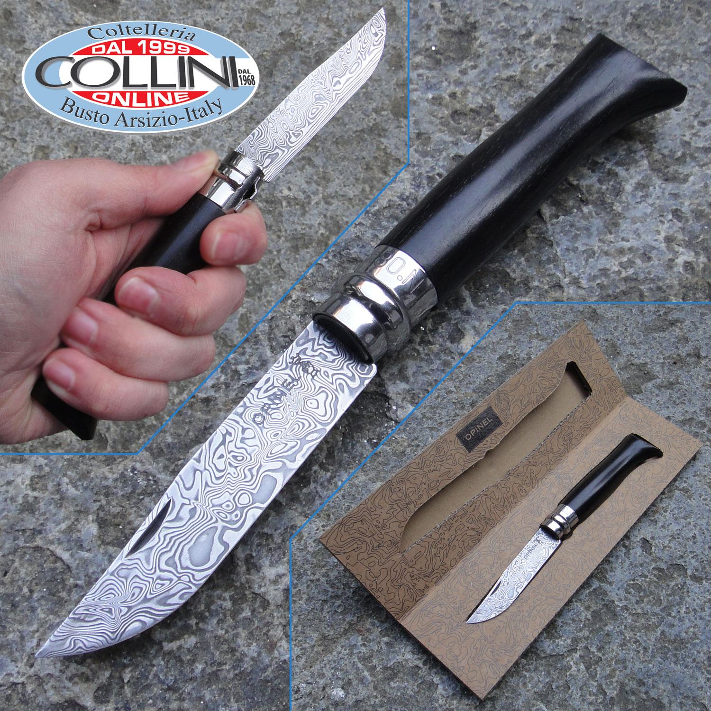 Opinel abracadamas n 8 ebony and damascus knife for Coltelli da tavola opinel
